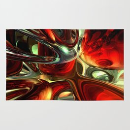 Sanguine Abstract Rug