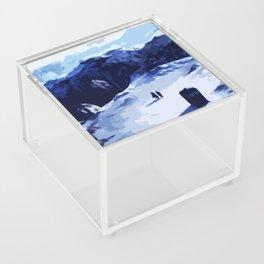 Tardis Art At The Snow Mountain Acrylic Box