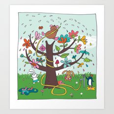 rainbow rain Art Print