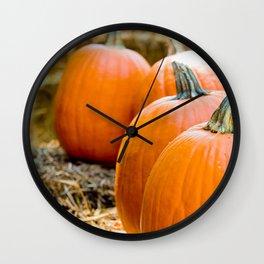 Pumpkins on Hay (Pumpkin Patch) Wall Clock