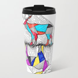 A wounded deer leaps the highest Metal Travel Mug