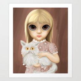 Weird Girl & Mr. Whiskers Art Print