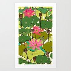 Lotus Garden Art Print