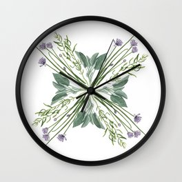 Fresh Herbs Wall Clock