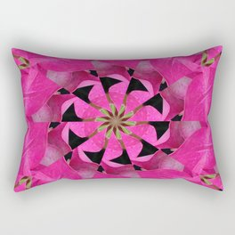 Pink Hydrangea Kaleidoscope Rectangular Pillow