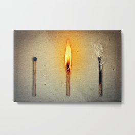 three mathes in line Metal Print