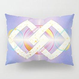Linked Lilac Diamonds :: Floating Geometry Pillow Sham