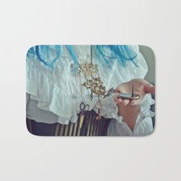 "Steampunk ""Chatelaine"" Necklace II Bath Mat"