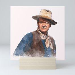 John Wayne - The Duke - Watercolor Mini Art Print