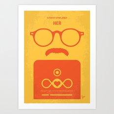 No372 My HER minimal movie poster Art Print