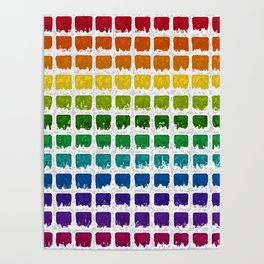 Iced Rainbow Chex Poster
