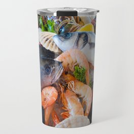 Various Seafood Travel Mug