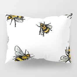 Just Some Beez A - White Pillow Sham
