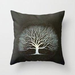 Mandala Tree Throw Pillow