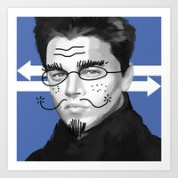 leonardo dicaprio Art Prints featuring Leonardo DiCaprio by Pazu Cheng
