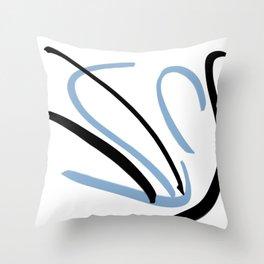 Blacken Sic Throw Pillow