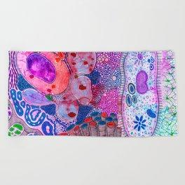 Bacterial world Beach Towel