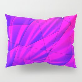 Bright fragments of crystals on irregularly shaped blue and violet triangles. Pillow Sham