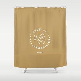C'est Versailles! - White Shower Curtain