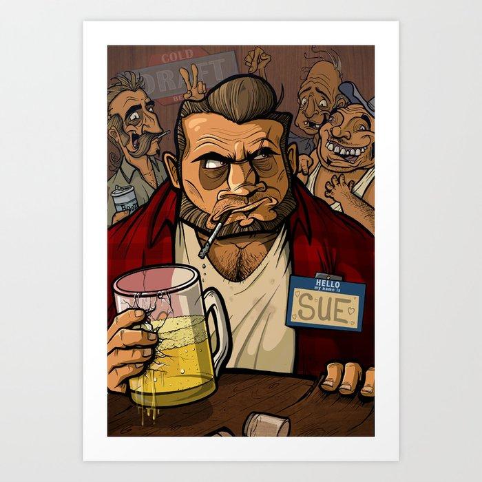 A Boy Named Sue Art Print