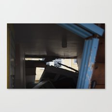 Blue Frame Motel, After Sandy Canvas Print