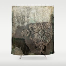 Gothic Forest Bear Shower Curtain