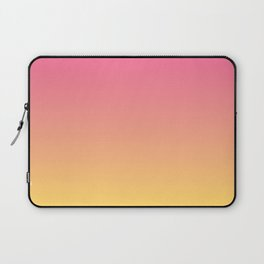 Pink and Yellow Ombre Print Laptop Sleeve