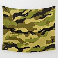 camouflage Wall Tapestries featuring CAMOUFLAGE by I Love Decor