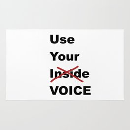 Use Your Voice Rug