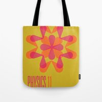 physics Tote Bags featuring Physics 11 by lynseycreative