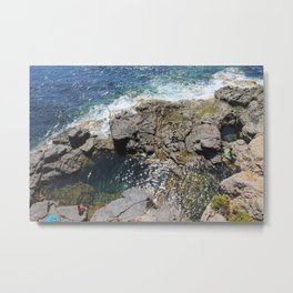 Natural pool at Is Praneddas, Arco dei Baci, Sardinia Metal Print