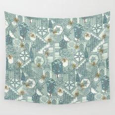 hexagon city Wall Tapestry