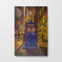 Old Fashioned Police Box in Glasgow Metal Print