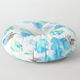 green tropical. collab dylan silva and francisco fonseca Floor Pillow