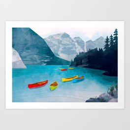 Canadian Canoes Art Print