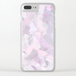 Abstract Painted Brush Strokes Clear iPhone Case