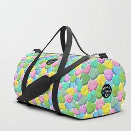 Cannabis Candy Hearts Duffle Bag