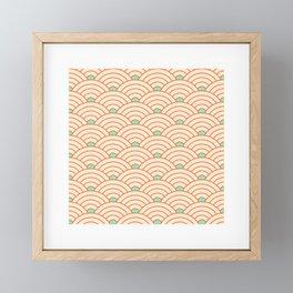 Japanese fan pattern II Framed Mini Art Print