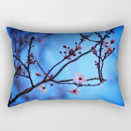 Blossom in Blue Rectangular Pillow