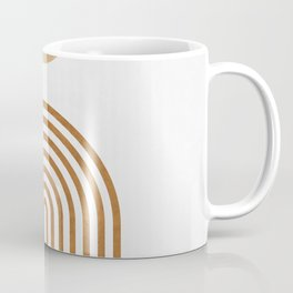 Jazzy Afternoon - Minimal Geometric Abstract - White 1 Coffee Mug