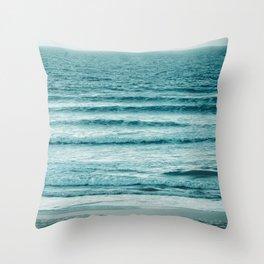Ocean Ripples Throw Pillow
