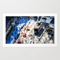 NYC - Miniature Street Art Print