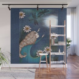 The Mermaid's Lake--Catching the Moon Wall Mural