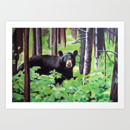 Bear in the Woods Art Print