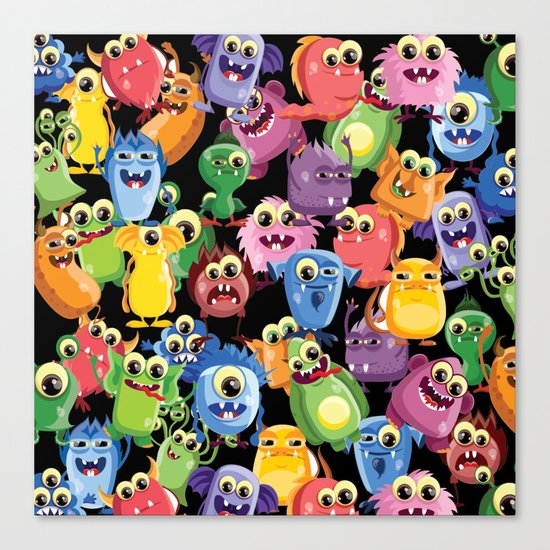 cute monsters Canvas Print