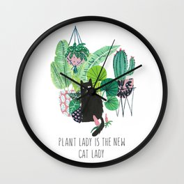 Plan Lady is the new cat lady! Wall Clock
