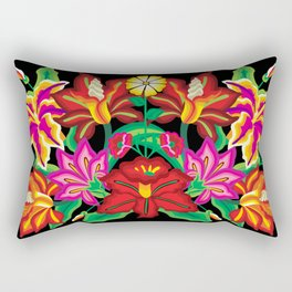 Mexican Exotic Flowers Rectangular Pillow