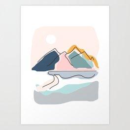 Minimalistic Landscape Art Print
