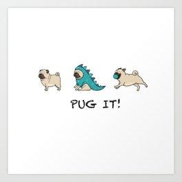 PUG, PUGS (great on teeshirts)! Art Print