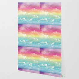 Clouds in a Rainbow Unicorn Sky Wallpaper